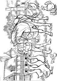 Kids N Fun Kleurplaat Paarden Op De Boerderij