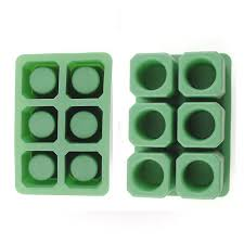 china durable silicone ice shot glass molds 6 cups silicone square ice cube trays supplier