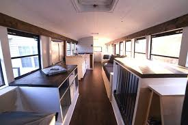 tiny house school bus. Techy Couple Convert School Bus Into Modern Tiny House And Escape The 9-5