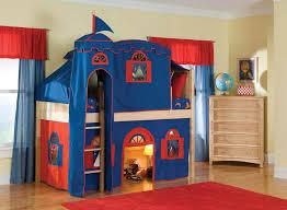 image of castle loft bed tent
