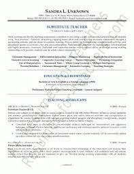 resume example   substitute resume sample substitute teacher        substitute resume sample substitute teacher resume template by sandra unknown substitute resume sample substitute teacher resume