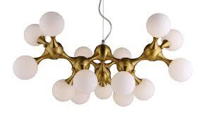 Postmoderne Lampe Kronleuchter Minimalist Messing Glas