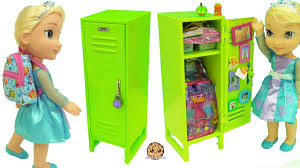 American Girl School Locker with Surprise Blind Bag Toys \u0026 Disney Frozen Queen Elsa Doll