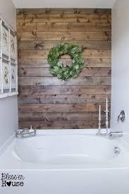 diy weathered wood plank wall