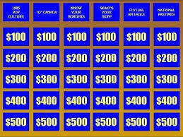 Jeopardy Powerpoint Template With Music The Highest