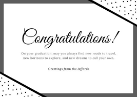 - Polka Templates And Black Card Dots Canva White Congratulations By
