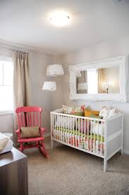 bright rustic mirrors technique calgary shabby chic nursery decorating ideas with carpeting carved wood ceiling light crib girls room gray mirror nursery