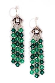03 04 435 green crystal chandelier earrings emerald lt emerald