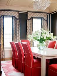 red covered parsons dining chairs