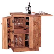 Weran Hausbar Sira Massivholz Akazie Weinbar Ausklappbar