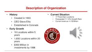 Chipotle Organizational Structure Chart Chipotle Presentation Group 3