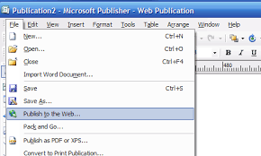 Microsoft Publisher Format How To Publish Using Microsoft Publisher Inmotion Hosting
