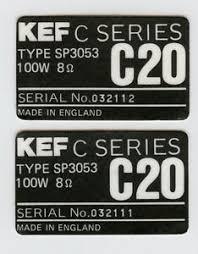 kef c series. image is loading vintage-kef-c-series-c20-type-sp3052-rear- kef c series 0