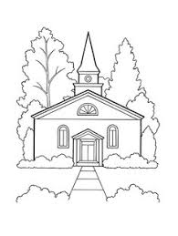 Small Picture A line drawing of a meetinghouse from the nursery manual Behold