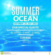 pool party template for poster design stock vector image  ocean water party tropical summer vacation poster or flyer design template stock photo