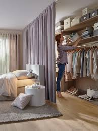closet with curtain in the bedroom