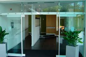 entry door sliding glass automatic all glass psf