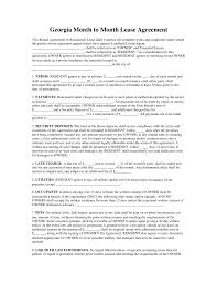 Month To Month Lease Agreement Example Free Georgia Month To Month Rental Agreement Template PDF Word 15