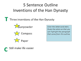 the essay step up to writing ppt video online  5 sentence outline inventions of the han dynasty