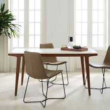 Dining table Glass West Elm Modern Expandable Dining Table West Elm