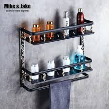 bathroom accessories corner shelf bathroom shelf length black aluminum bathroom corner shelf bathroom holder shower room
