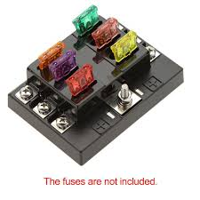 discount universal way circuit car fuse box holder v dc universal 6 way circuit car fuse box holder 32v dc waterproof blade fuse holder block for