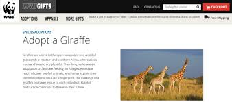 s gifts worldwildlife org gift center gifts species adoptions giraffe aspx