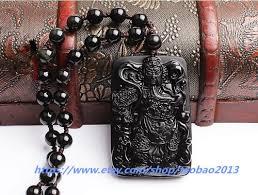 natural black jade luck guan yu