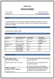 Cv For Experienced Resume Templates For 1 Year Experienced Experienced Resume