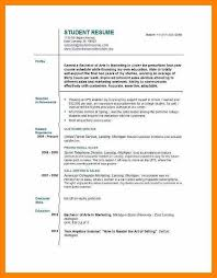 Resume Builder For First Job - Resume Sample