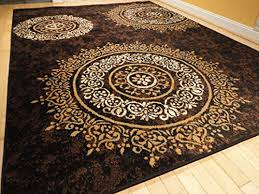 luxury century brand new contemporary brown and beige modern wavy in black area rugs ideas 9