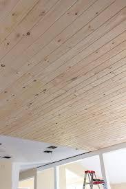 kitchen chronicles diy tongue and groove plank ceiling jenna sue design blog