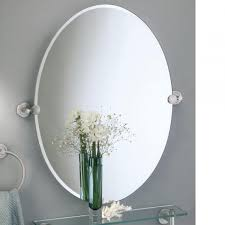 oval mirrors for bathroom. Brass Metal Oval Tilting Mirror For Bathroom Over Wall Mounted Glass Shelf, Elegant Mirrors M