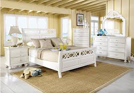 Seaside White 5 Pc Queen Sleigh Bedroom From Bedroom Sets Furniture