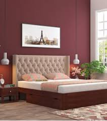 Home furniture bed designs Wood Rooms To Go King Size Beds Buy King Size Bed Online Upto 55 Off Woodenstreet