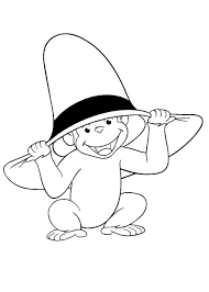 Curious George Coloring Pages For Kids With Curious George Coloring