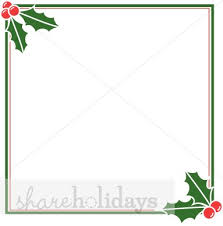 christmas menu borders square holly frame christmas borders