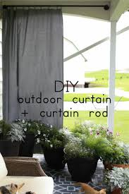 diy outdoor curtain and curtain rod in 15 minutes or less the dempster logbook