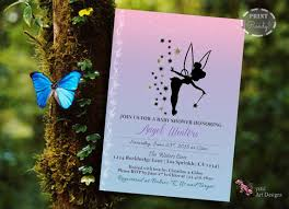 Tinkerbell Invitations Printable Tinkerbell Inspired Baby Shower Invitation Printable Baby