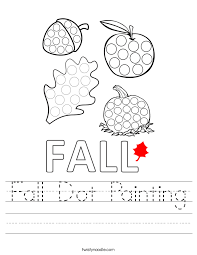 Fall Dot Painting Worksheet - Twisty Noodle