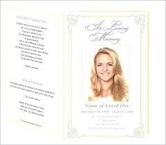 Free Memorial Program Template Download Service Funeral Printable