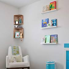 emfogo corner wall shelves rustic wood