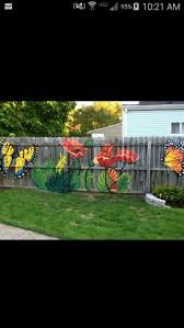 Painted Fences best 25 fence painting ideas fence art garden 2631 by xevi.us