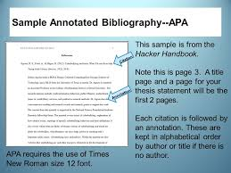 Find Examples of Annotated Bibliography APA   Annotated     apa bibliography quote