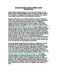 napoleons rise to power essay animal farm how does napoleon gain power over animal farm and how does