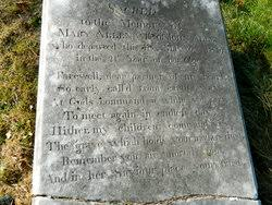 """Mary """"Polly"""" Crawford Allen (1798-1819) - Find A Grave Memorial"""