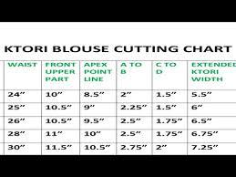Ktori Blouse Cutting Chart