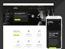 gym website design best bootstrap responsive web design templates 40 ease template