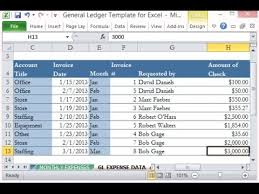 excel general ledger how to create general ledger and trial balance with excel urduhindi