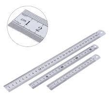 Straight Steel Ruler Measuring Tool inch/cm Sewing Craft Household ... & Straight Steel Ruler Measuring Tool inch/cm Sewing Craft Household DIY  quilting ruler double faced Adamdwight.com